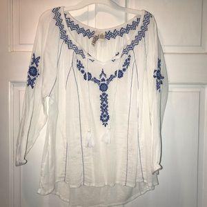 Long sleeve beach blouse